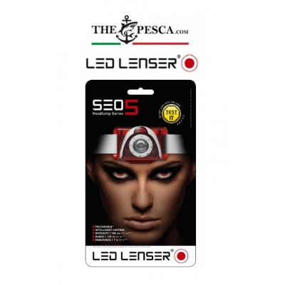 Led Lenser Torcia frontale SEO 5 red